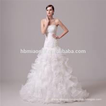 white color laced deep v neck princess wedding dress bridal gown mermaid