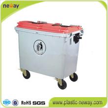 660L poubelle extérieure en plastique écologique