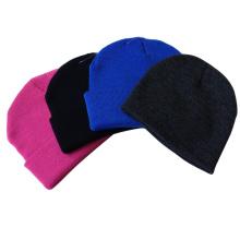 Custom unisex em branco em branco Beanie Knit Cap chapéu de Inverno Crânio, Atacado Plain Acrílico Barato Plain Beanies, Beanie Knit Hat