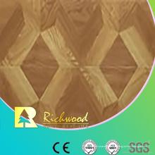 Plancher stratifié insonorisant de chêne de relief de 12.3mm E0 AC4