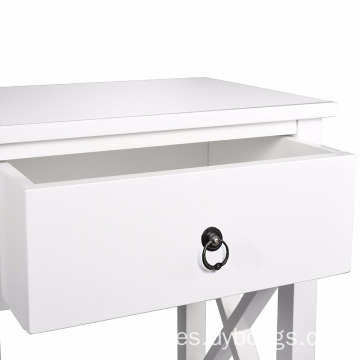 X-Design Side End bedside Table Night Stand Storage Shelf with Bin Drawer