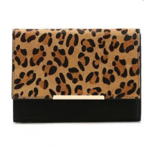 Hot Selling Classical Leopard Printed Haircalf Fashion Clutch (ZX20180)