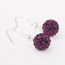 Hottest wholesale fashion Shamballa basketball wives earrings beads BWE49