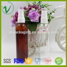 Transparente vazio perfume redondo 120ml spray PET garrafa para embalagem de cosméticos