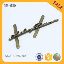 MB629 Античный латунный буквенный алфавит логотип металл для мешка