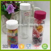 250ml wholesale cylinder clear pet plastic candy jar