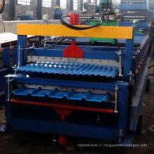Petit pain en acier de profil formant la machine / machine de laminage de double couche