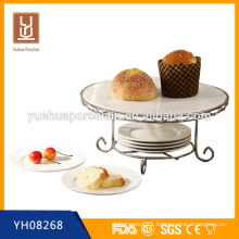 2015 wholesale new porcelain cake stand handle