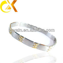 high polish aks sex stainless steel bracelet with gold plating