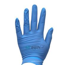 Перчатки одноразовые синие нитриловые