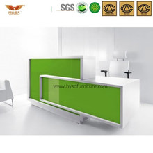 Green&White Customized Bank Front Desk Office Reception Desk (HY-Q15)