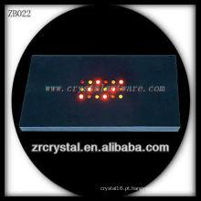 Base de luz de LED de plástico por atacado para modelo de cristal