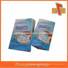 China fabricantes 3 lado saco de selo de calor folha de alumínio com alta qualidade para gelar folha de gel