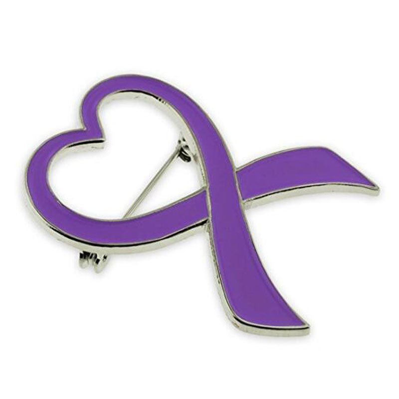 Domestic Violence Awareness Ribbon Brooch Pins