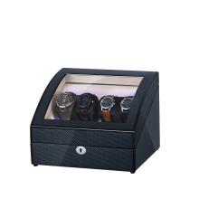 Curved Black Wooden Watch Winder