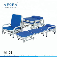 AG-AC003 medical two function accompany folding reclining bed chairs