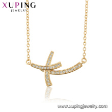44512 wholesale fashion jewelry religion necklace 18k gold color cross necklace for women