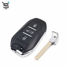 Good price remote smart key for 508 408 301 2008 3008 3 button custom key with 433 mhz 46 4A chip