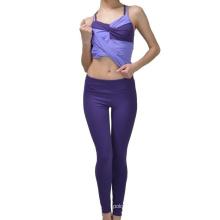 Pantalones apretados legging del deporte de la yoga del poliéster de la muchacha atractiva de la manera