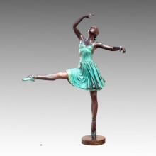 Large Statue Ballet Performers Bronze Sculpture Tpls-013