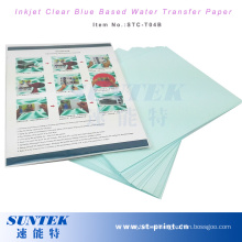 Blue Based Clear Water Slide Decal Transfer Paper for Nail