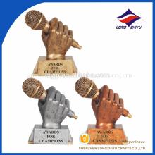 дешевые изготовленный на заказ металл трофей , пользовательских музыкальных трофеев,великолепный трофей