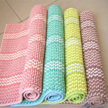 stripe microfiber cheap floor tiles chenille bath mat