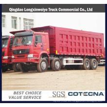 Cnhtc Sinotruck HOWO 371HP 8X4 Camión Volquete Pesado