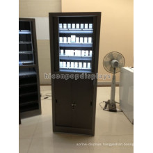 Quality Plywood Freestanding Led Lighting Cabinet Tobacco And Cigarettes Display With Pusher For Sale
