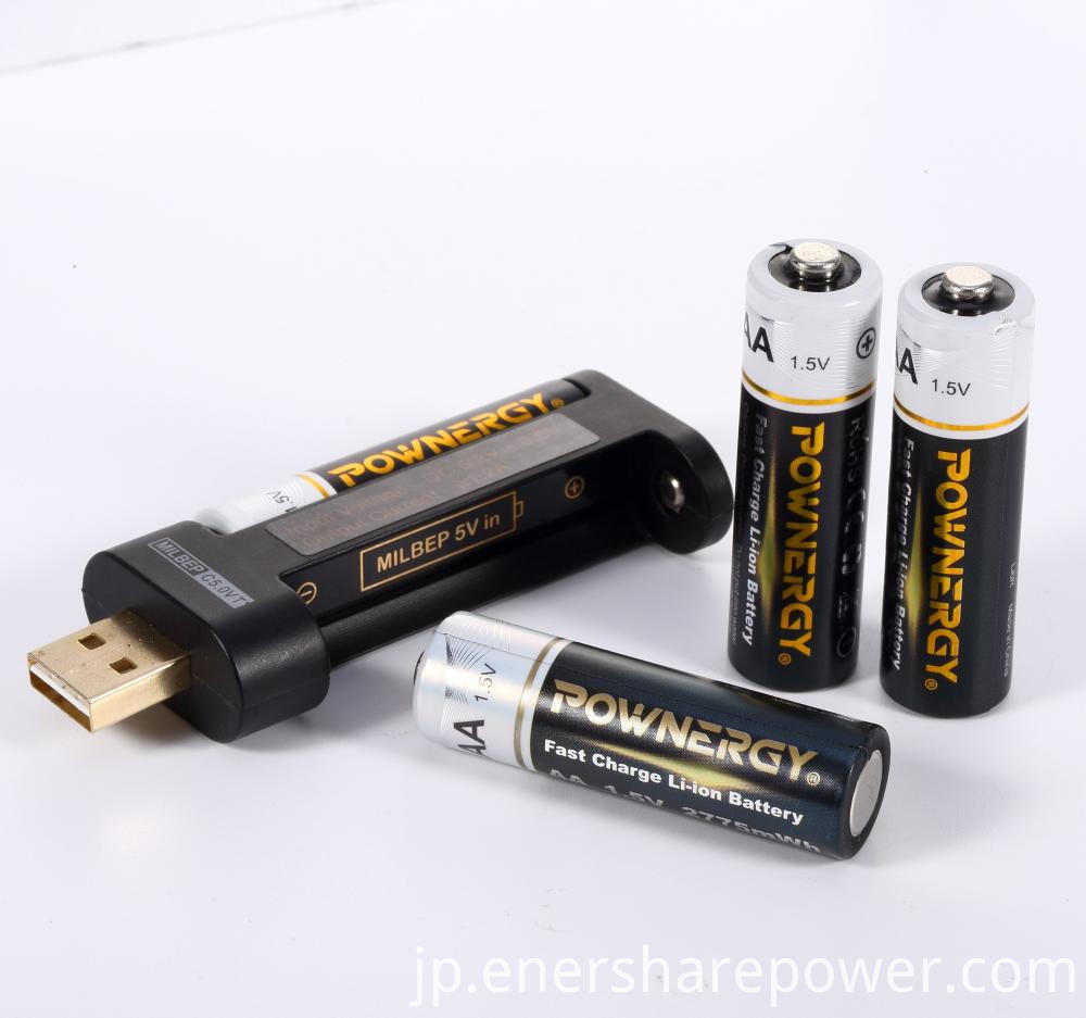 2775mWh Aa Rechargeable Battery Charger
