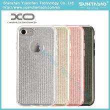 Moda brilhante TPU PC brilhante Film Phone Case para iPhone 7 Plus
