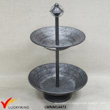 Luckywind 2 Плиты Торт Стенд Металлический Лоток