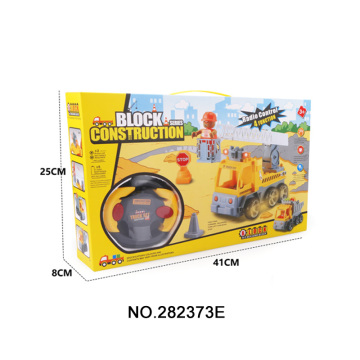 4 CH Assemble R / C Engineering Car Toy Games