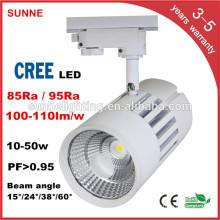 40W Indoor Commercial LED COB Track Rail Lighting For Supermarket LED Track