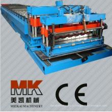 Пасс CE и ISO Автоматический контроль металлический лист крыши плитка Глазурованная штамповка Профилегибочная машина