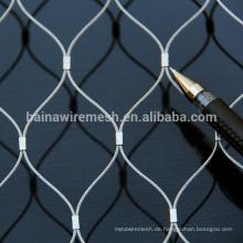 Alibaba china Lieferant Flexible Edelstahl Netting / Fellrute Seil Mesh