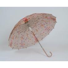Auto Open Fashion Ladies Straight Umbrella (BD-12)