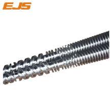 barril y el tornillo gemelo cónico bimetálicas extrusión 80 156