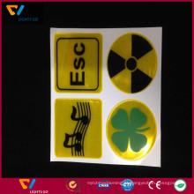 China fábrica personalizado de alta qualidade fluorescente amarelo 0.4mm de espessura auto-adesiva 3 m reflexivo PVC adesivos