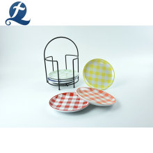 Vente chaude personnalisé vaisselle à la maison ronde plat en céramique de beurre