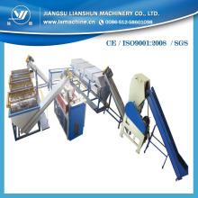 Lavado de trituración y máquina de reciclaje de la película del PE de venta caliente