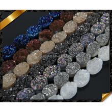 Оптовый овальный камень друи для ювелирных изделий DIY, шариков druzy агата (YAD0100)