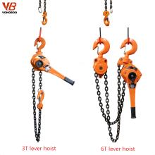 Elevador de bloque de nivel de cadena de mano de cuerpo de acero de alta calidad 0.5t a 10t