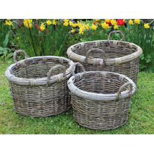 RAPL-026 Newest Poly PE Rattan Outdoor Garden Decor Planter - Pottery