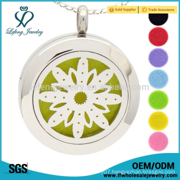 Aromatherapy necklace,flower of life perfume locket, essential oil diffuser necklace