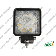 24W 3W * 8PCS LED Work off Road Light para ATV SUV Truck Escavadeira Empilhadeira Pencil Beam Light