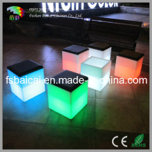 Color Changing LED Cube Chair / Garden Chair / Bar Chair