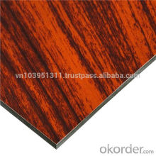 Alucobond Aluminum composite panel mable design for wall