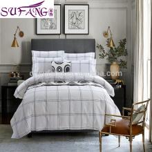 2017 Alibaba proveedor de ropa de cama de algodón de fibra larga, ropa de cama de algodón de la casa