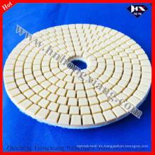 100mm almohadilla abrasiva de diamante húmedo para mármol, piso de granito